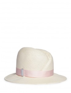 'Nell' front scar straw fedora hat