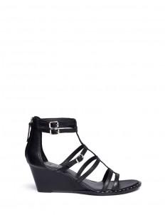 'Nuba Bis' stud caged wedge sandals