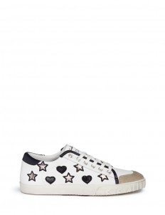 'Magic' star and heart appliqué leather sneakers