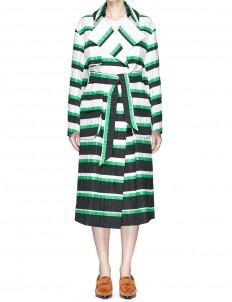 Oversized stripe coat