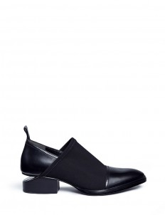 'Kori' cutout heel neoprene and leather slip-on Oxfords