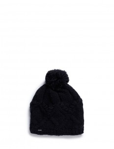 'Chloe' cable knit pompom beanie