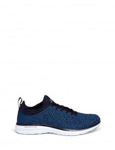 'Techloom Phantom' metallic knit sneakers