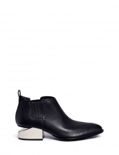 'Kori' cutout mirror metal heel leather Oxfords
