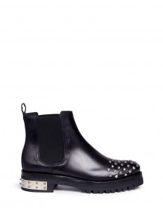 'Mod' stud leather Chelsea boots