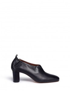 'Micol' choked-up leather pumps