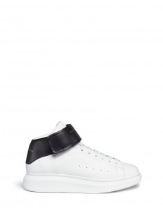 'Larry' high top platform leather sneakers