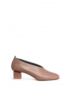 'Mildred' choked-up leather pumps