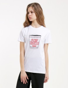 White Noodle Cup Tshirt