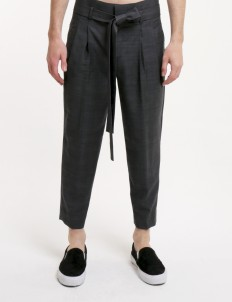 Gray Checked Trousers