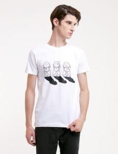 White Trio Namaste Tshirt