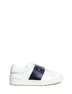 'Rockstud' contrast panel leather sneakers