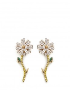 'Daisy' detachable diamond 18k gold earrings
