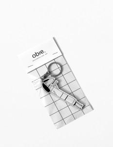 Black & White Woof.02 Keychain