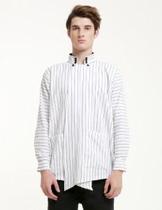 White Lurik Dalang Unisex Shirt