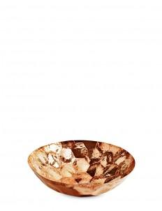 Hex medium copper bowl