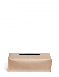 Liverpool rectangle leather tissue box