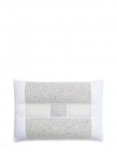 Geranium and tourmaline pillow