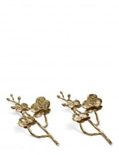Golden Orchid napkin ring set