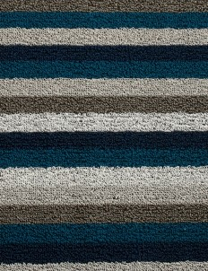 Shag Even Stripe door mat
