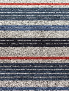 Shag mixed stripe door mat