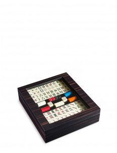 Ebony wood mahjong box
