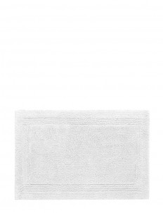 Super Pile small reversible bath mat — White