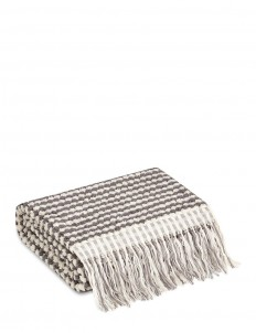 Payas bath towel - Oyster/Dark Grey
