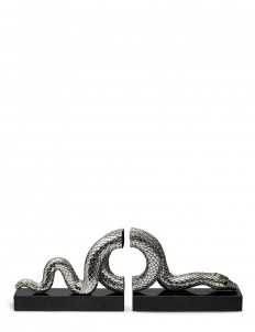 Snake Bookend - Platinum