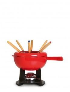 Cast iron 20cm fondue set