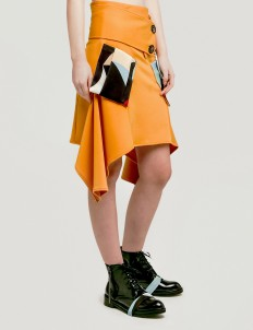 Yellow Cole Side Drape Skirt