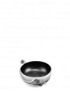 Aluminium salad bowl