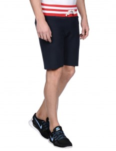 Athletic pant contrast ribbed track shorts