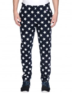 Athletic pant all over print track pant