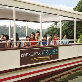 Singapore River Safari with Two Boat Ride Ticket