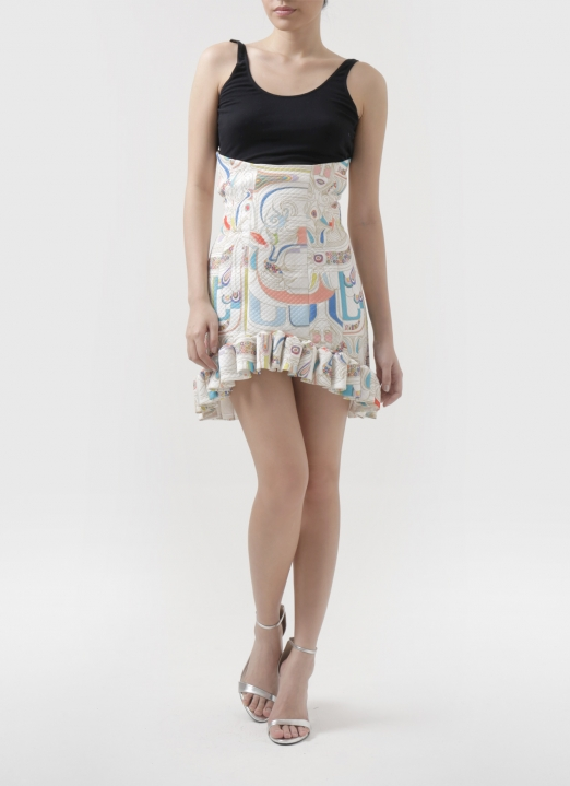 Patrick Owen Maharati Corsseted Skirt