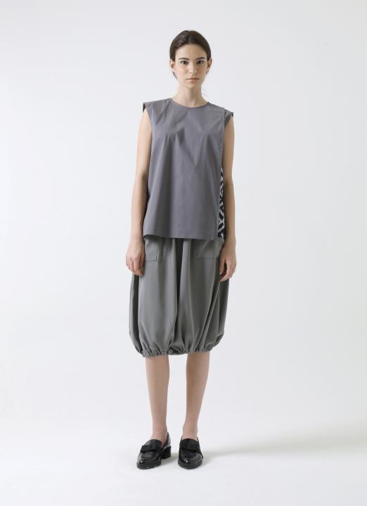 MAENKAEN Gray Amanta Skirt