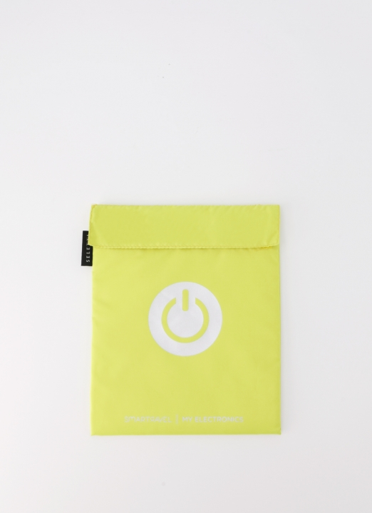 Seletti by LAFLO Yellow My Electronics Travel Pouch