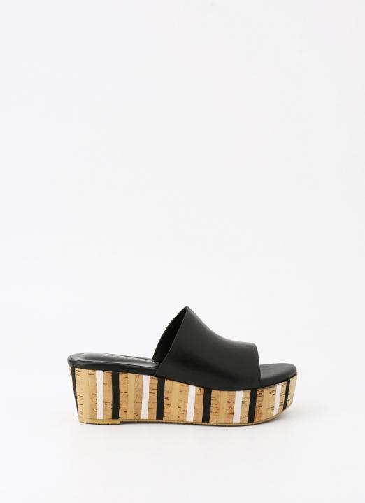 Winston Smith Black Hanna Wedge Sandals