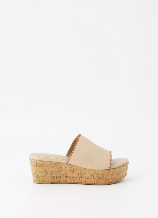 Winston Smith Crème Zaneta Suede Wedge Sandals