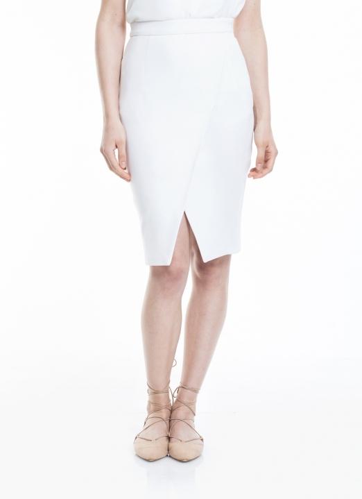 M By Mischa White Lana Skirt