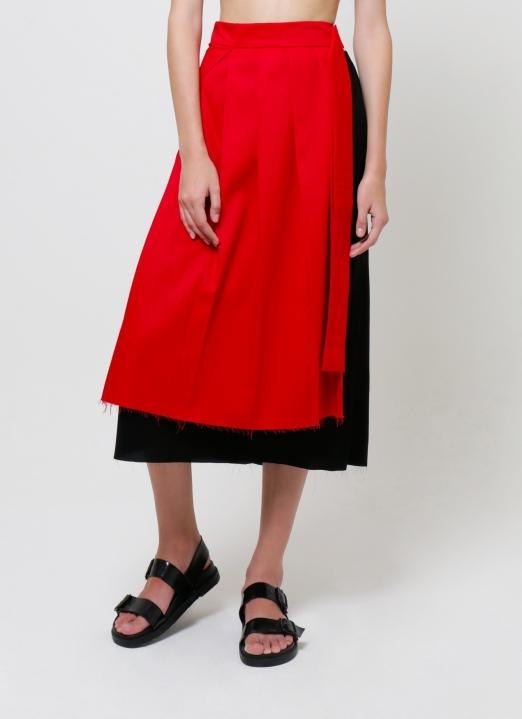 Aesthetic Pleasure Red Savage Skirt