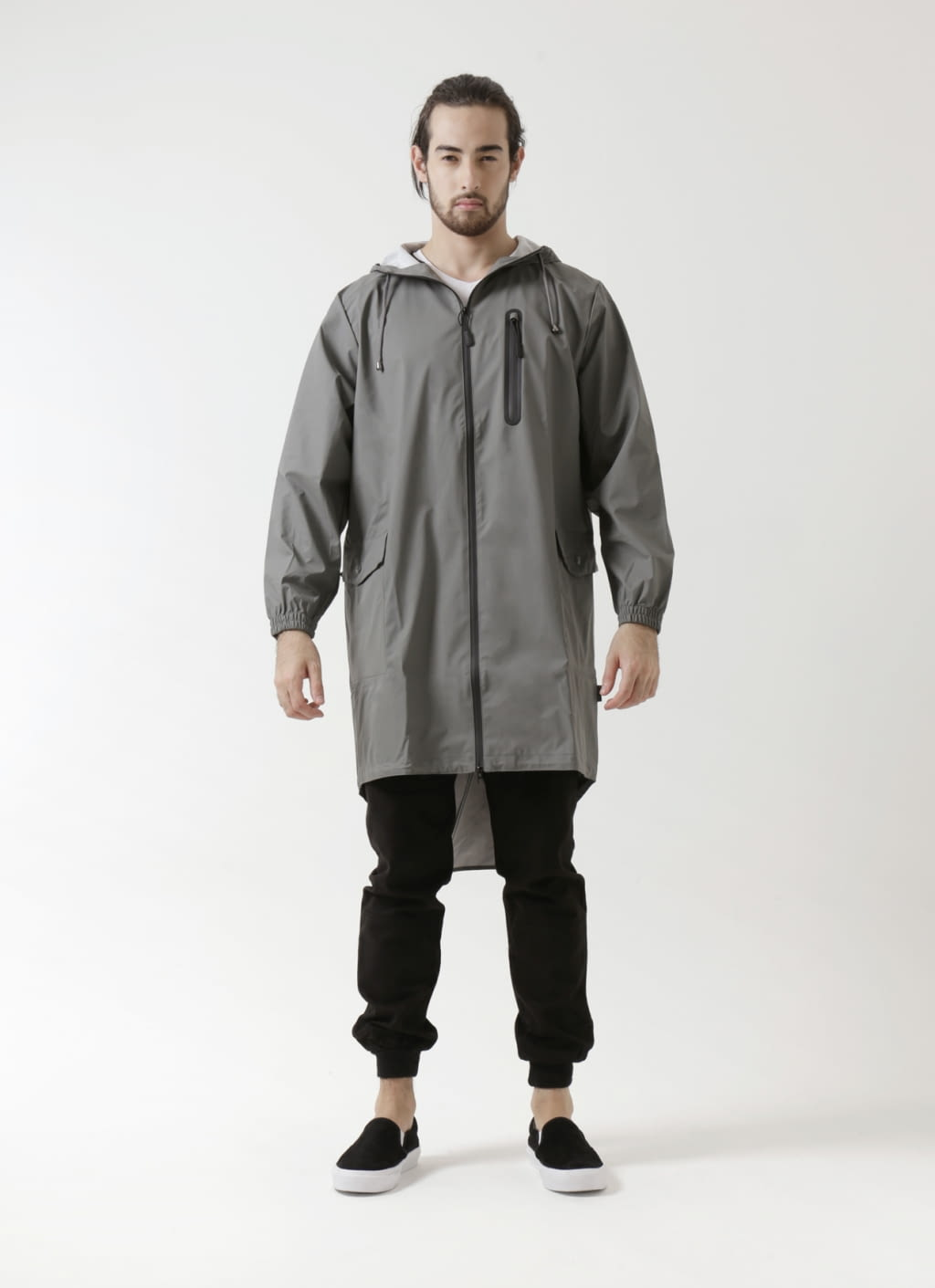 Buy Rains Grey Parka Coat | BOBOBOBO