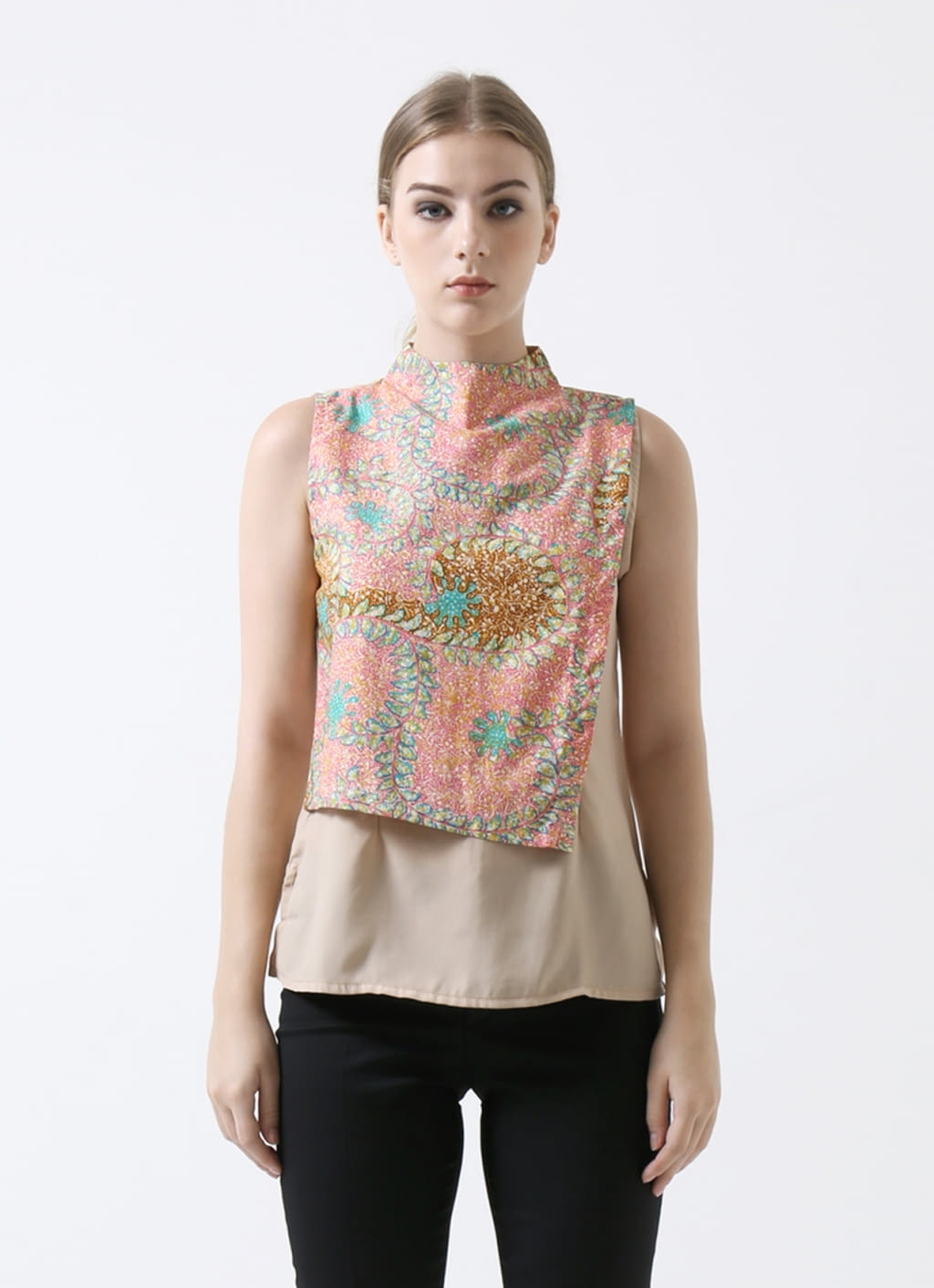 Warangka Batik Pink Paige Layer Top