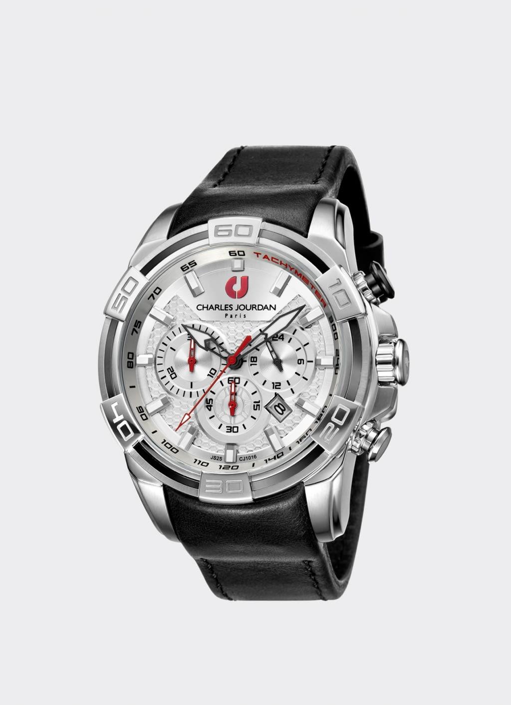 Charles Jourdan Black & Silver CJ1016-1312 Man Watch ...