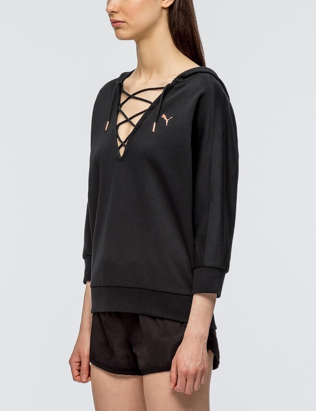 puma yogini cropped hoodie
