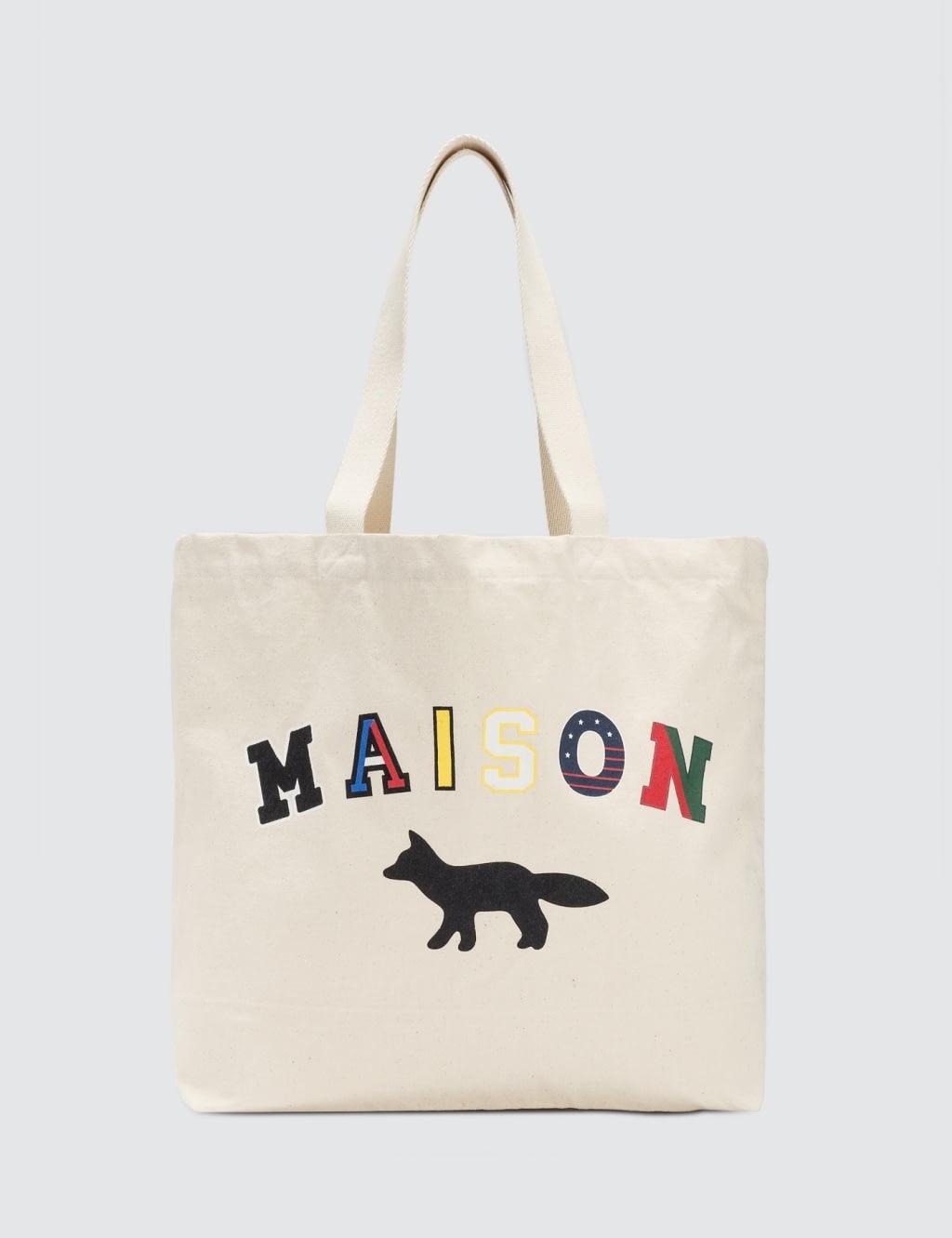 MAISON KITSUNE Maison Fox Tote Bag