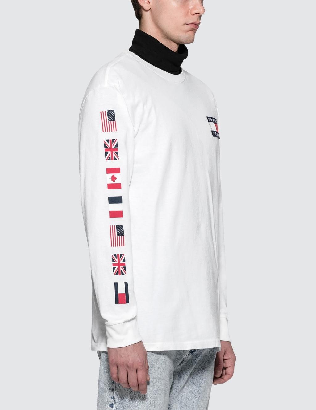ea11e602 Tommy Jeans 90s Capsule 5.0 Long Sleeve T Shirt With Logo Sleeve ...