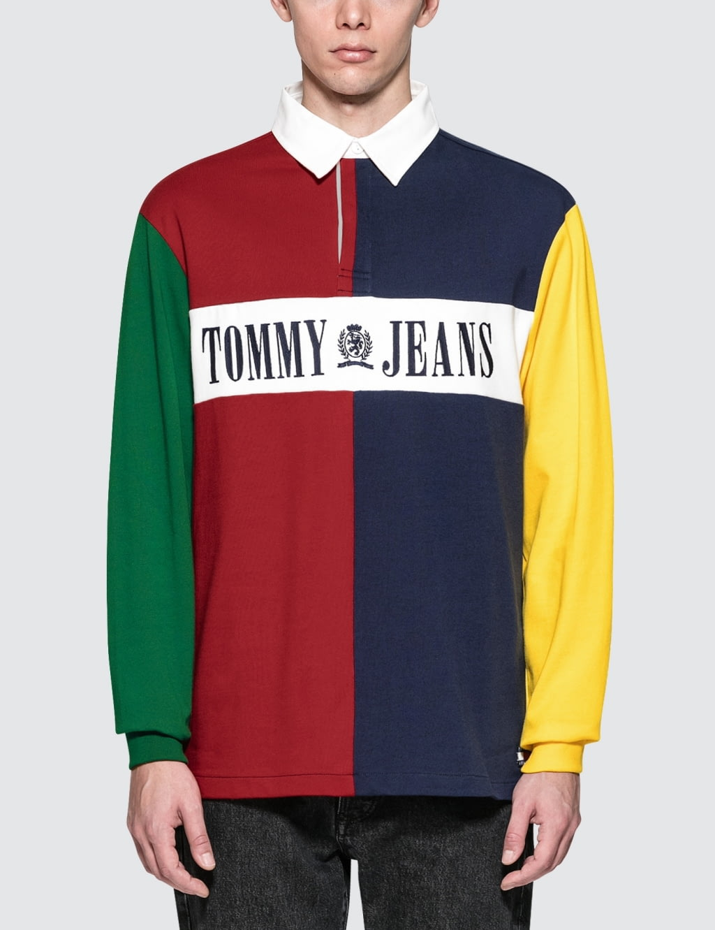 Buy Original Tommy Jeans 90s Colorblock Rugby Shirt at ...
