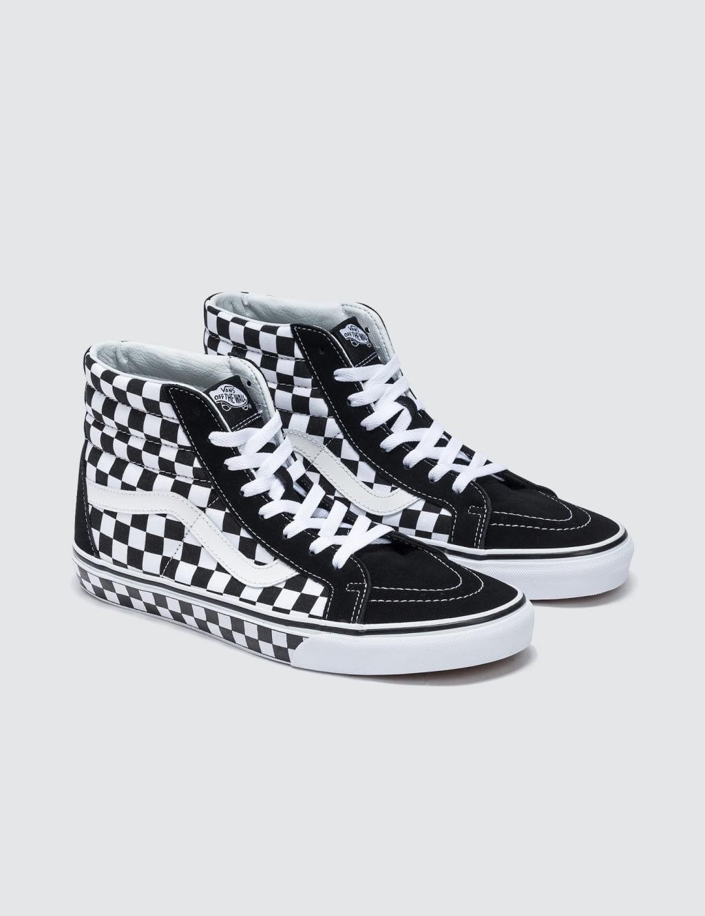 vans sk8 hi checkerboard reissue